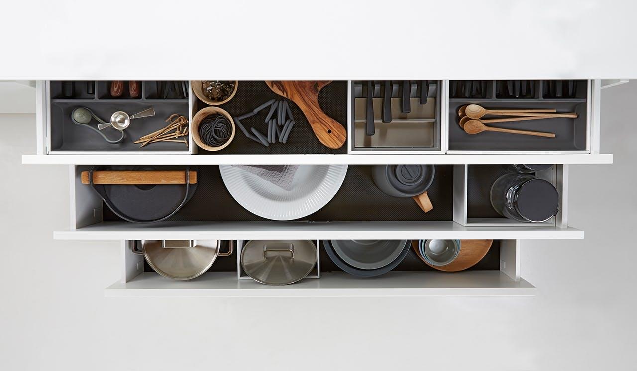 Tvis Køkkener opbevaringsskuffe med magnetiske skillevægge