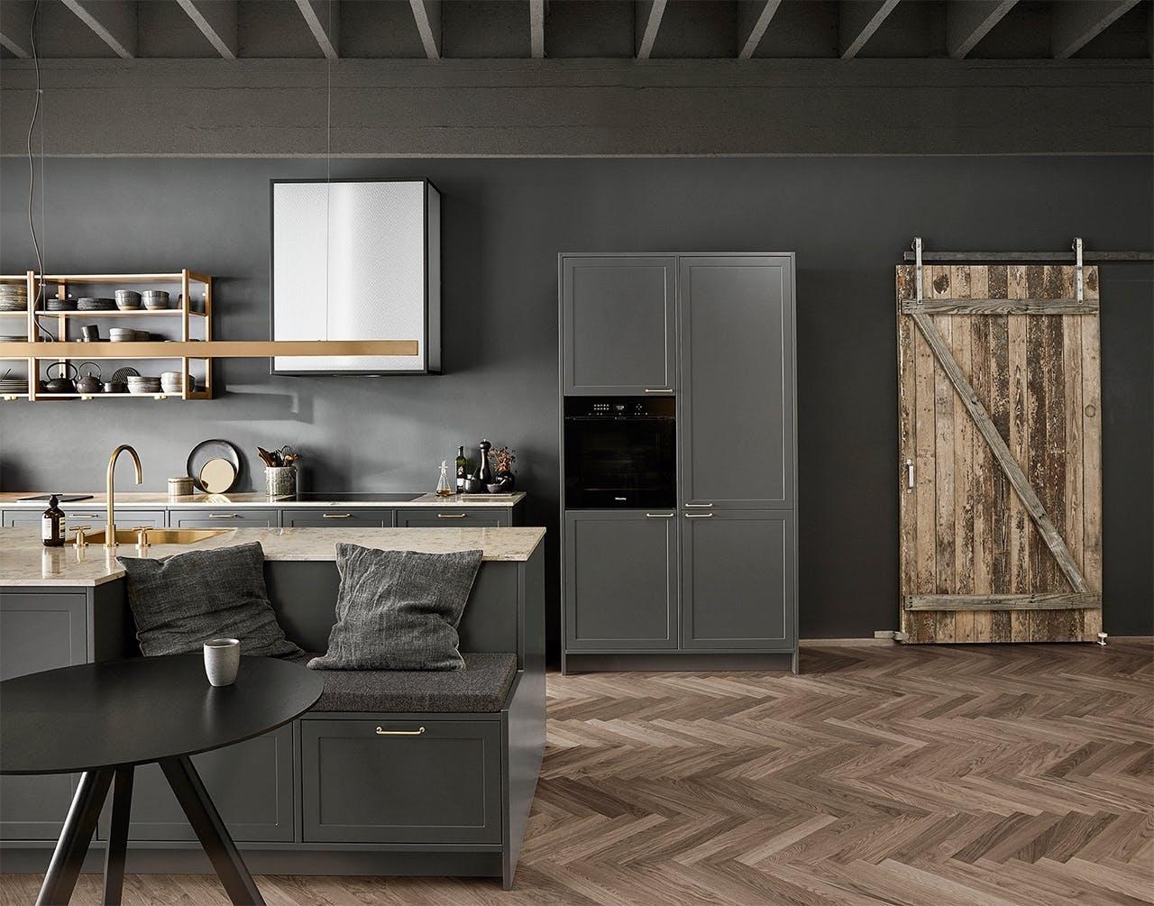 Uno forms new nordic shaker kitchen køkken i mørkegrå