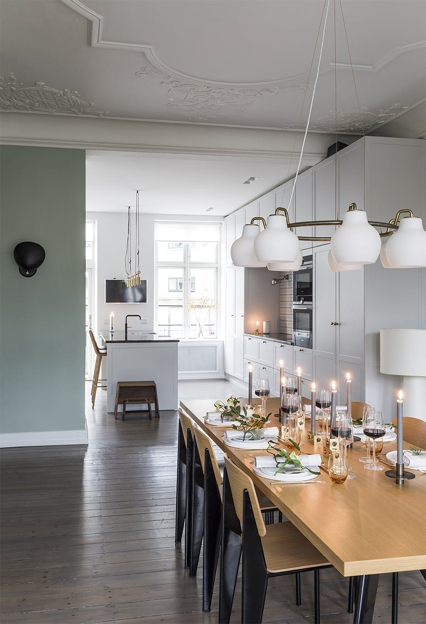 jul bolig indretning hygge lejlighed spisebord spisestue