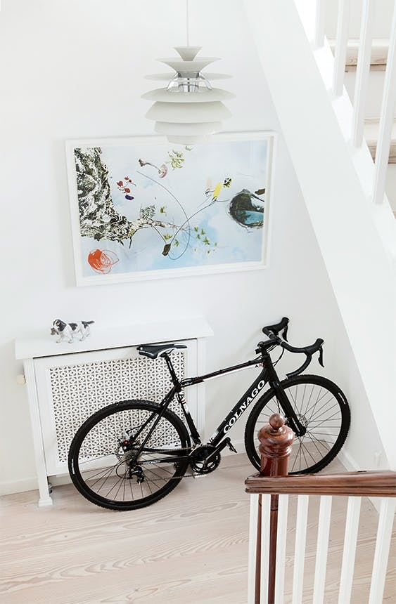 cykel på trappeopgang i københavnervilla