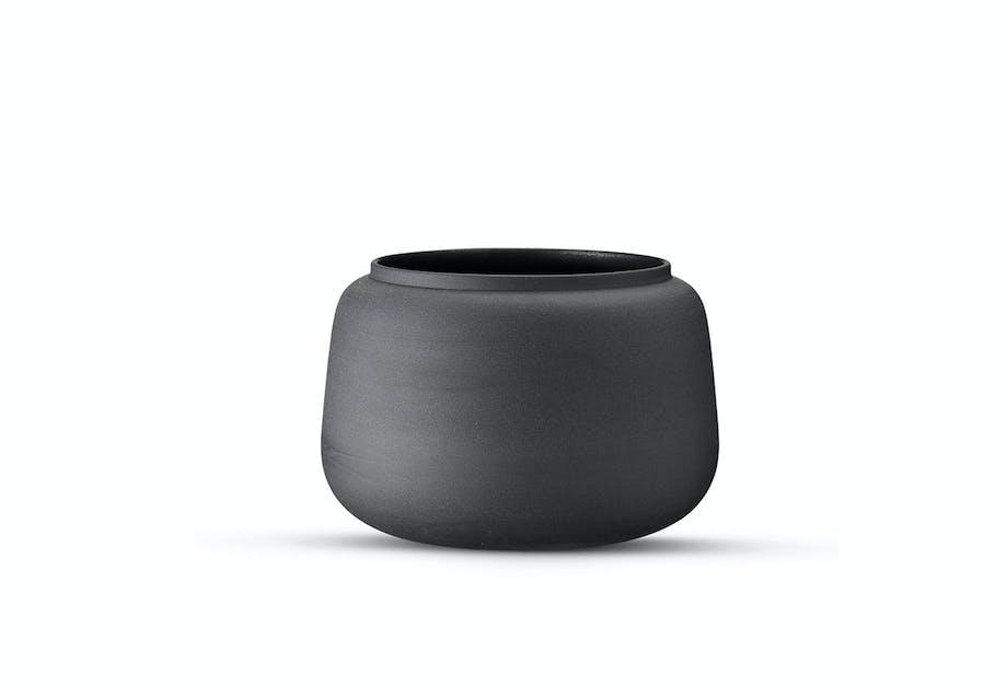 En lille, buttet vase