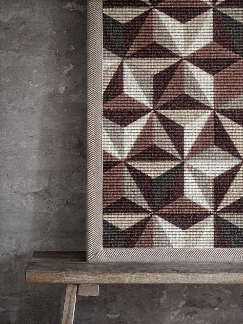Geometrisk og flot tæppe