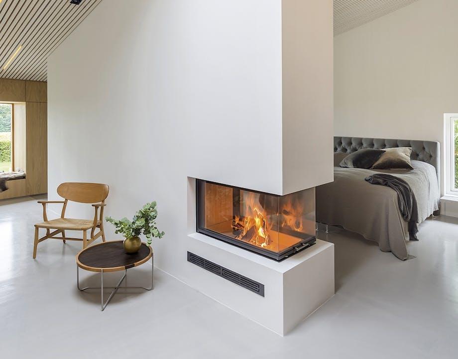 danske boligarkitekter arkitektur ombygning pejs lounge