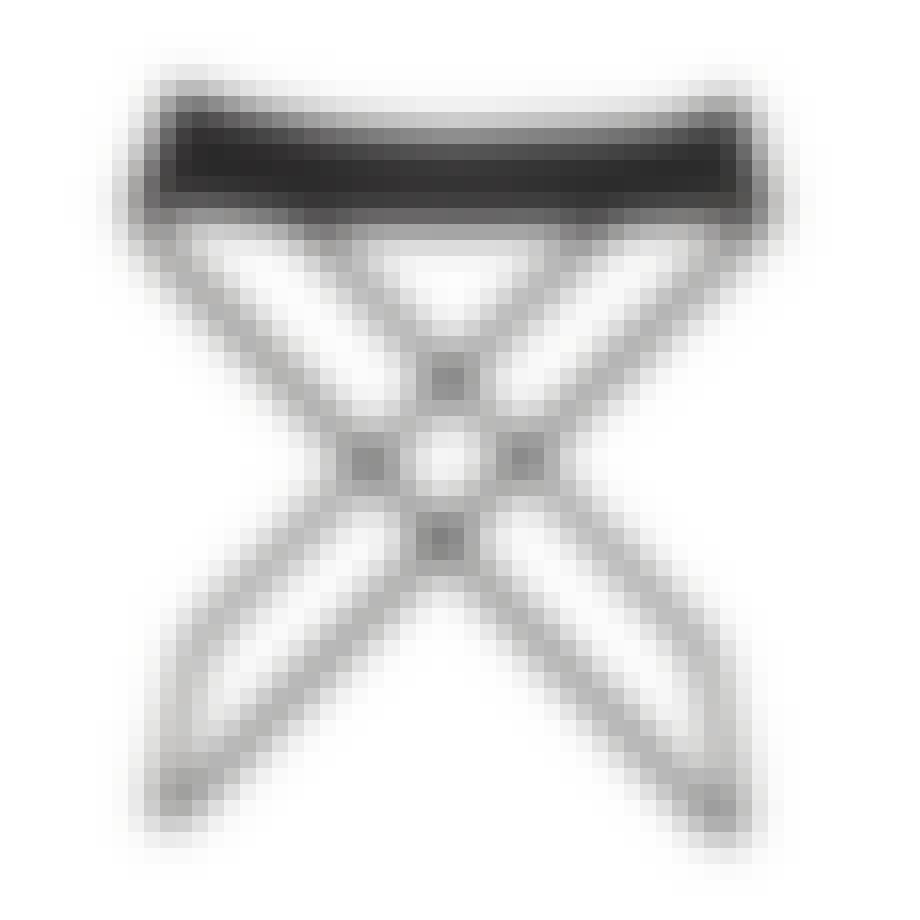 Broste Copenhagen nola-taburet i sort skind