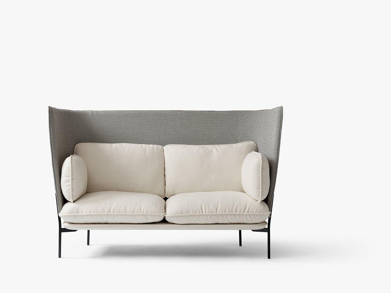 &tradition sofa med høj ryg i hvid og grå