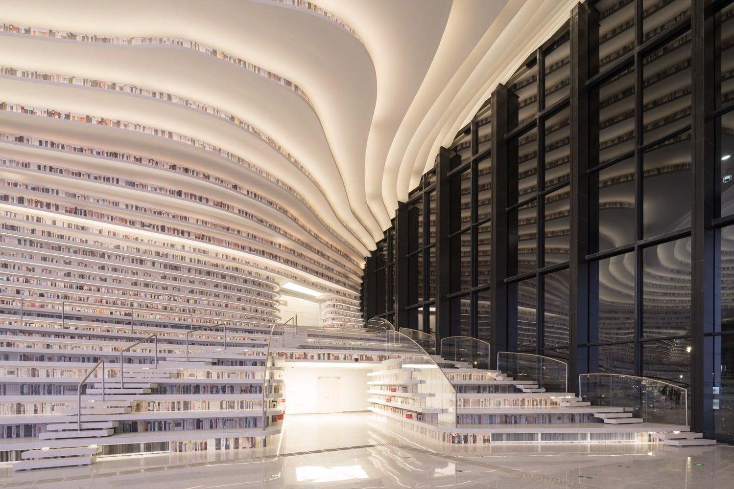 bibliotek kina arkitektur struktur bøger design