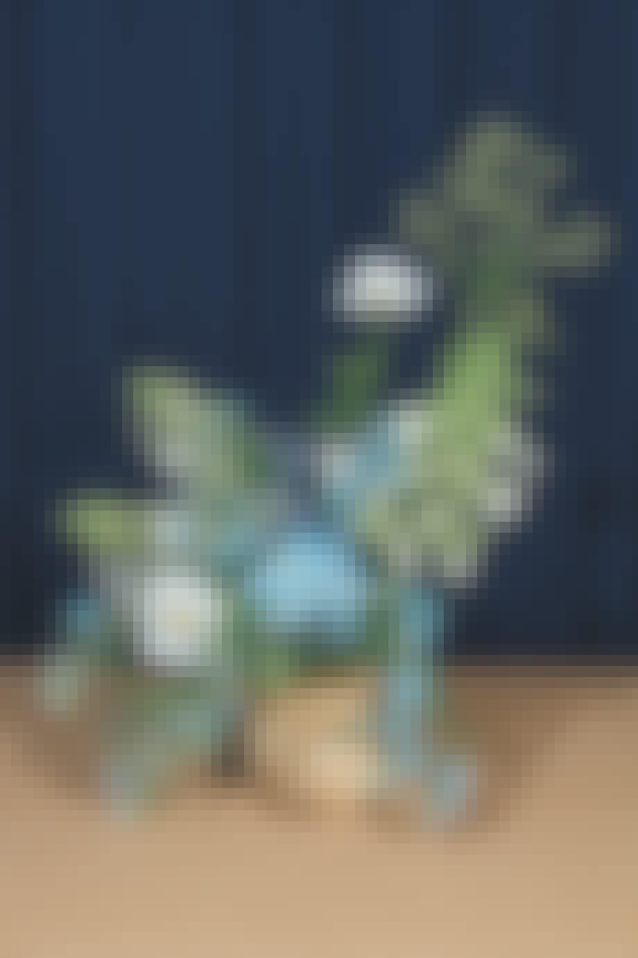 blå buket fra blomst af uffe buchard