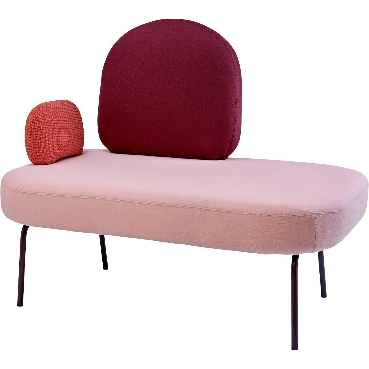 Bolia siddemøbel i lyserød og rød