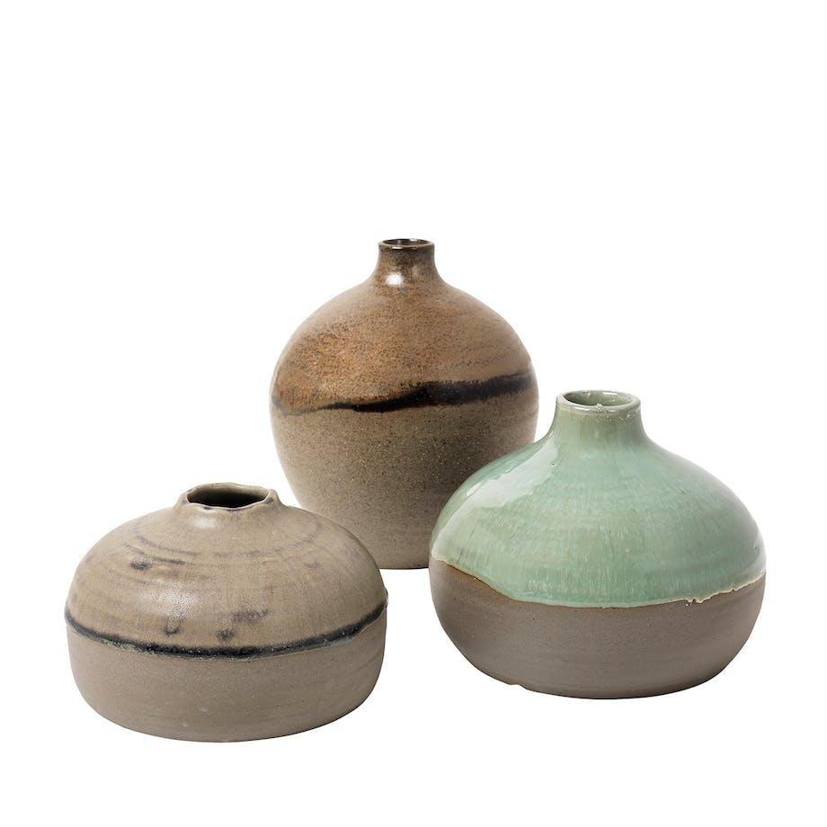 Broste Copenhagen keramik sæt af tre små vaser