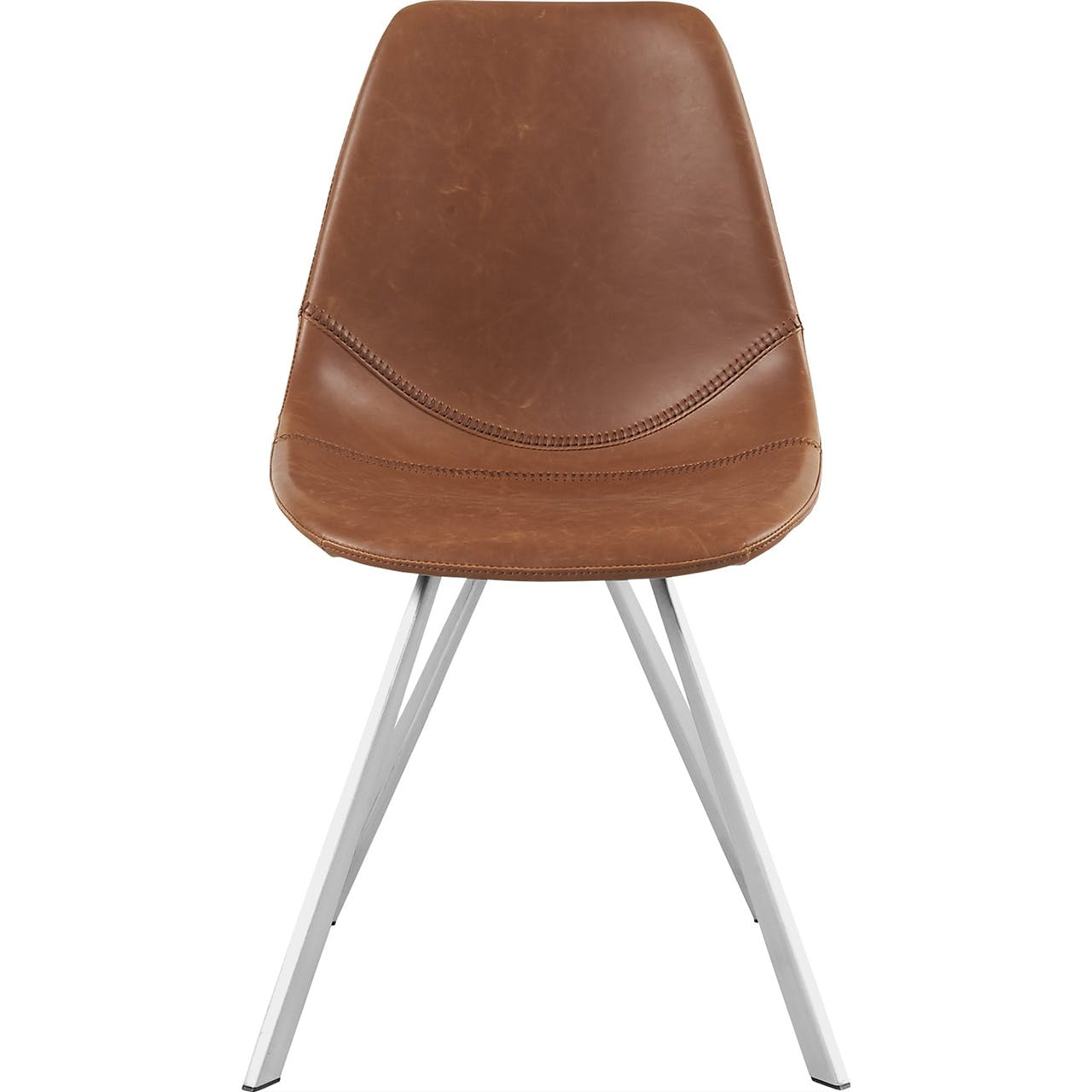 ilva spisebordsstol i lys læder