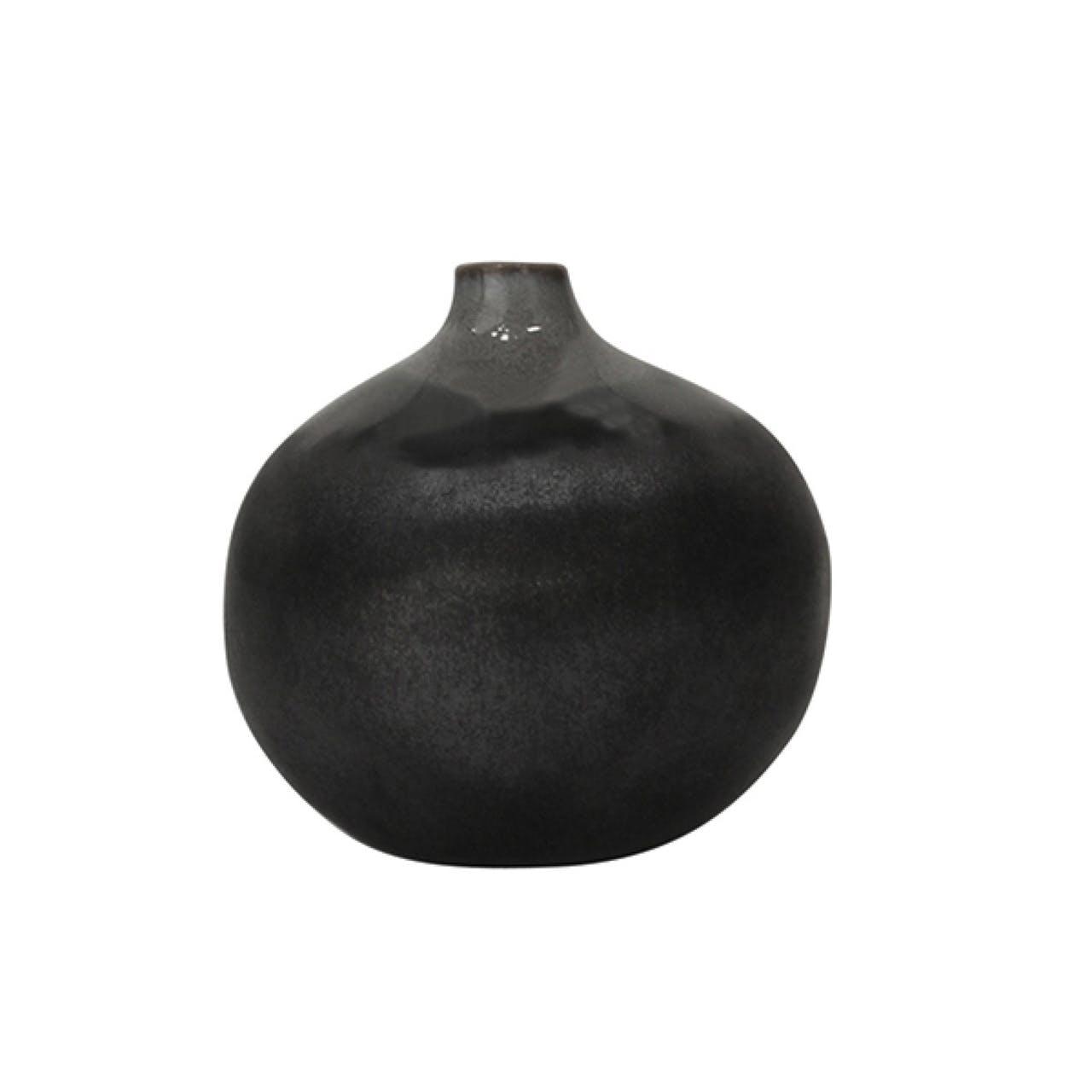 Louise Smærup sort keramik vase