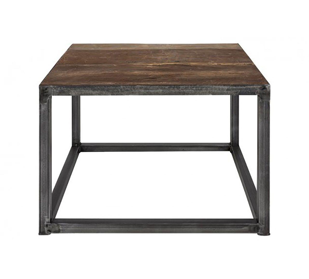 Unoliving kvadratisk bord i mørkt træ