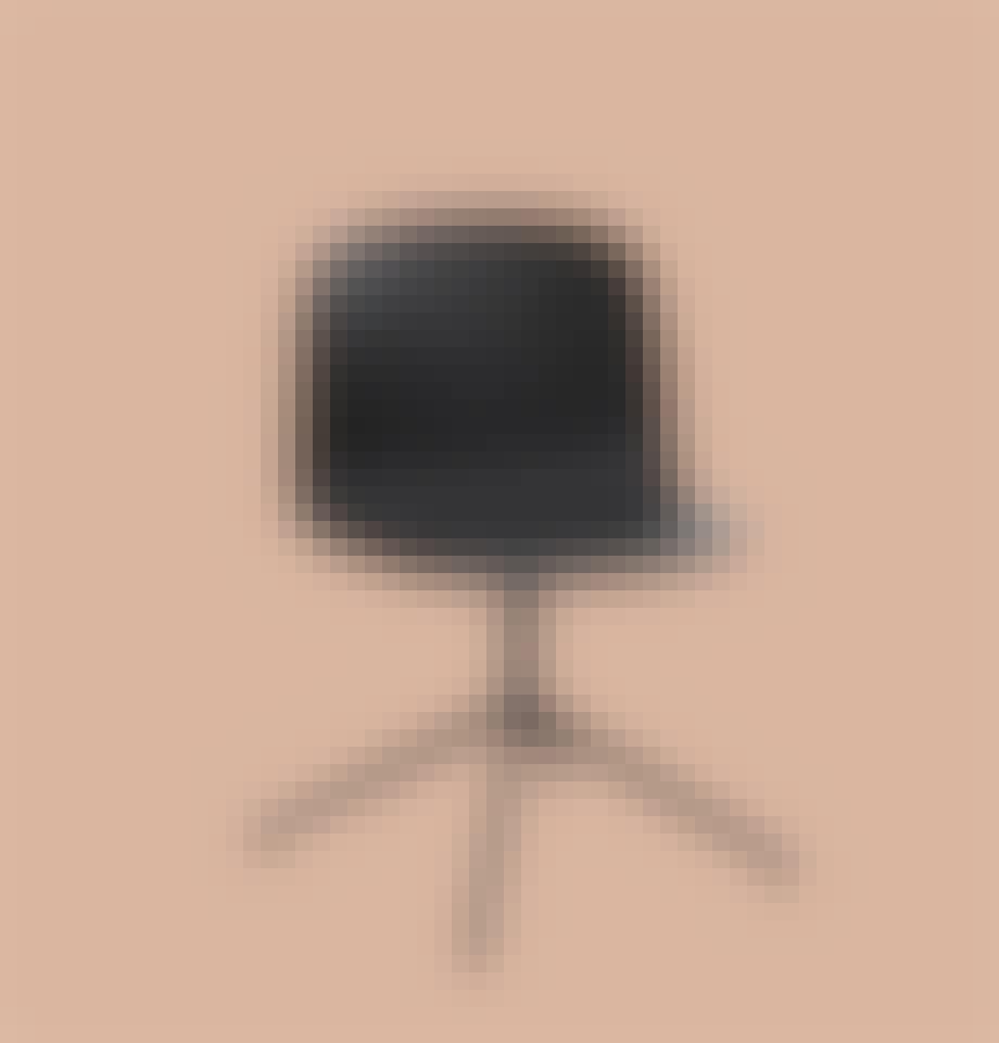 Muuto stol i træ lakeret sort