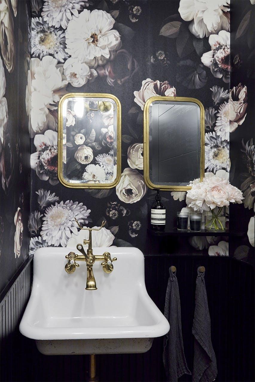 new yorker lejlighed indretning badeværelse vask
