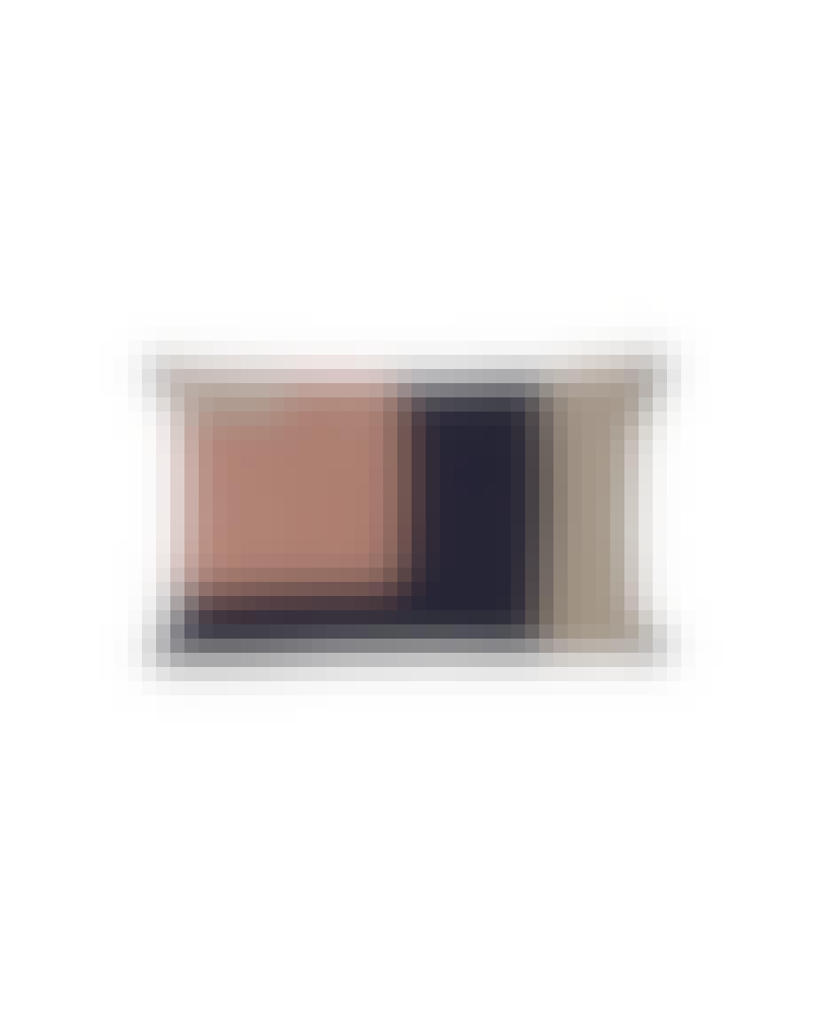Ferm Living pude i sort og lyserøde mønstre