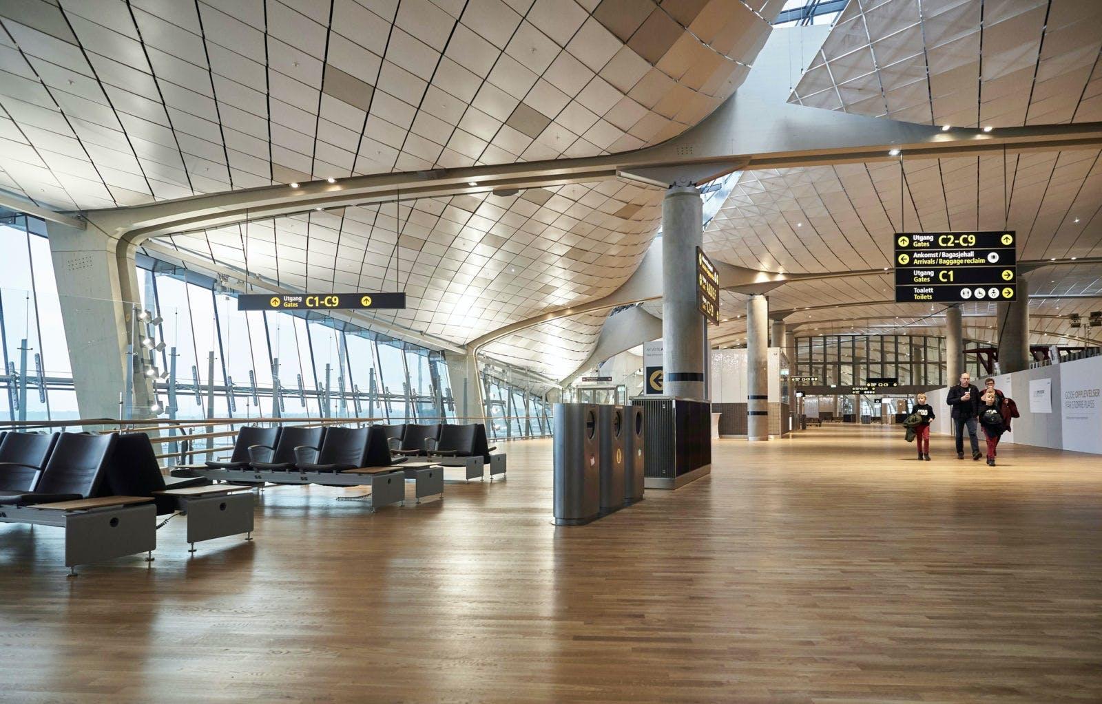 design arkitektur oslo lufthavn udvidelse terminal