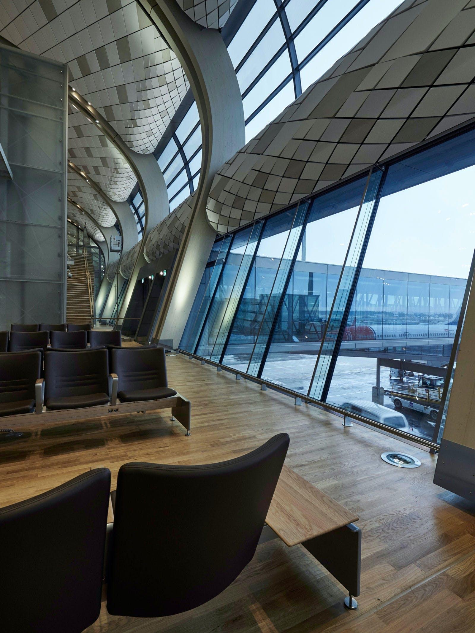 design arkitektur oslo lufthavn udvidelse stole terminal