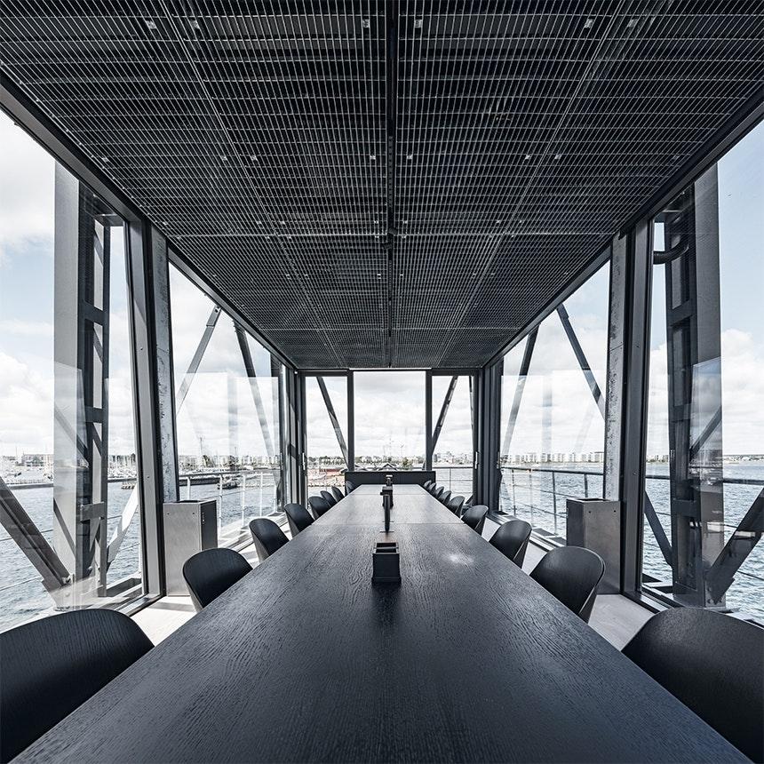 The Krane mødelokale med udsigt til nordhavn