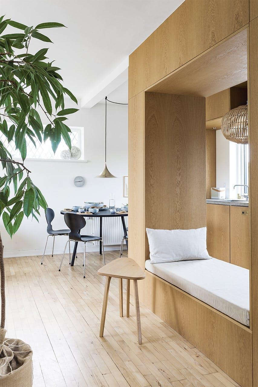 smart hjem compact living spisestue seng bord