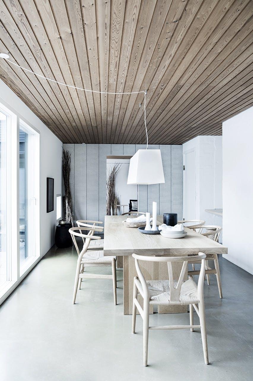 arkitekttegnede huse inspiration spisestue spisebord