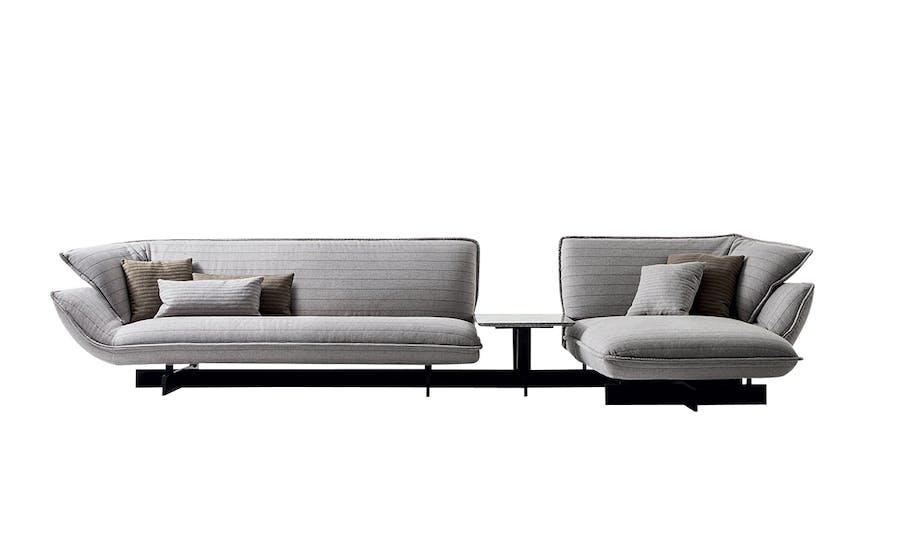 3FALKE beam-sofasystem i grå