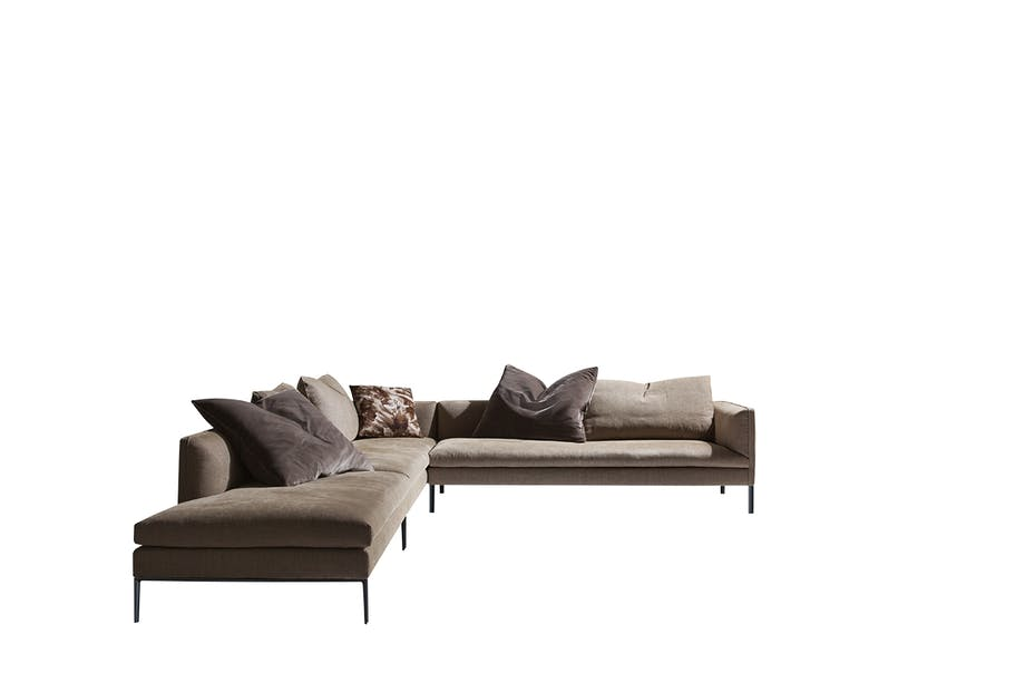 INTERSTUDIO paul-sofa i brun