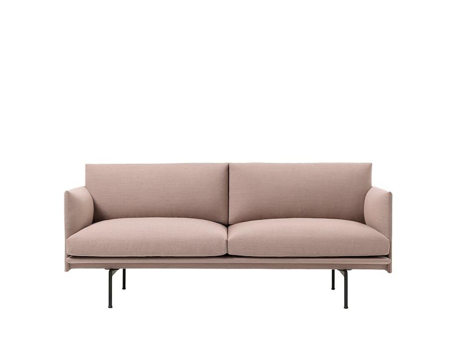 Muuto compose-sofa i lyserød