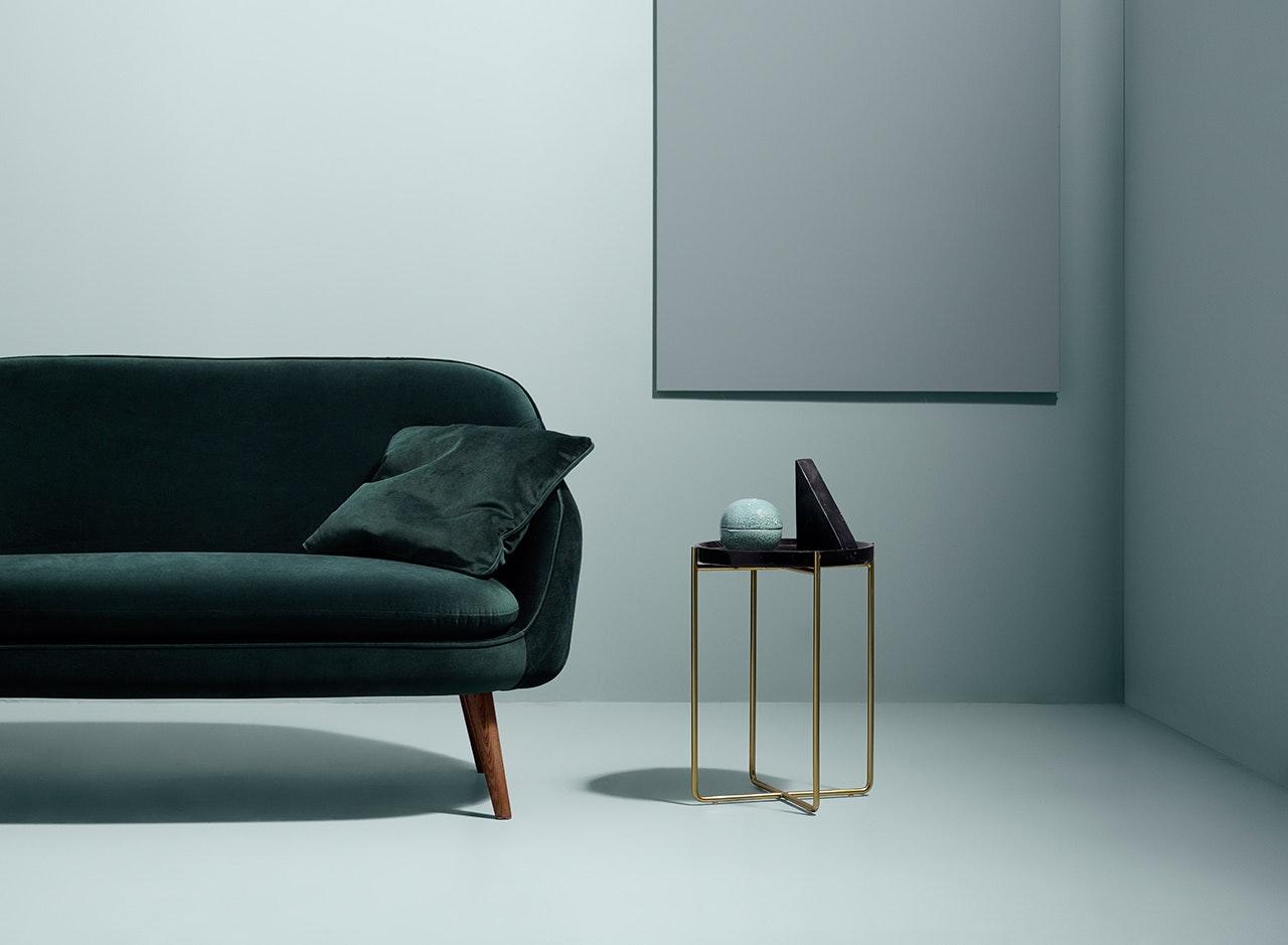 Sofakompagniet flynn-sofa i grøn velour