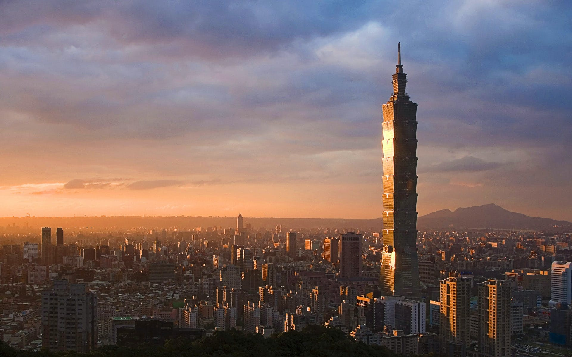 9: Taipei 101 – 508 m.