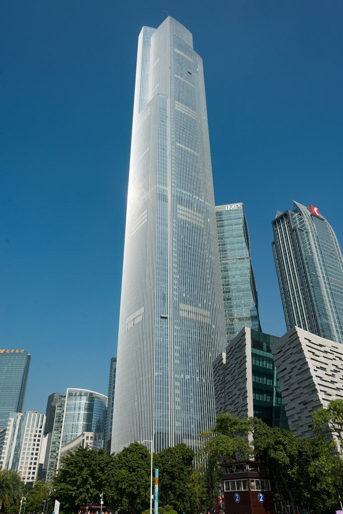 7: Guangzhou CTF Finance Centre – 530 m.