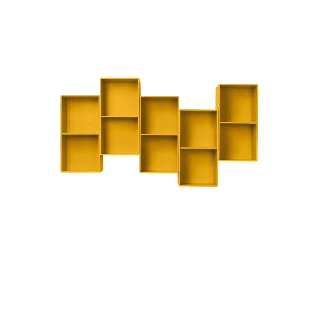 Montana displayhylde i gul