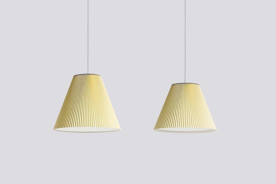 Hay loftslamper i lys gul