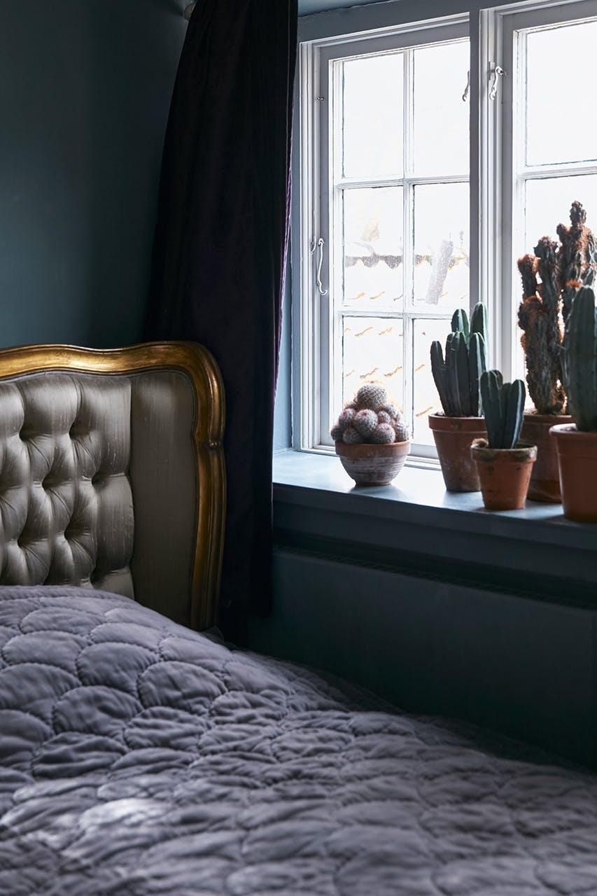 boligreportage boligindreting soveværelse seng