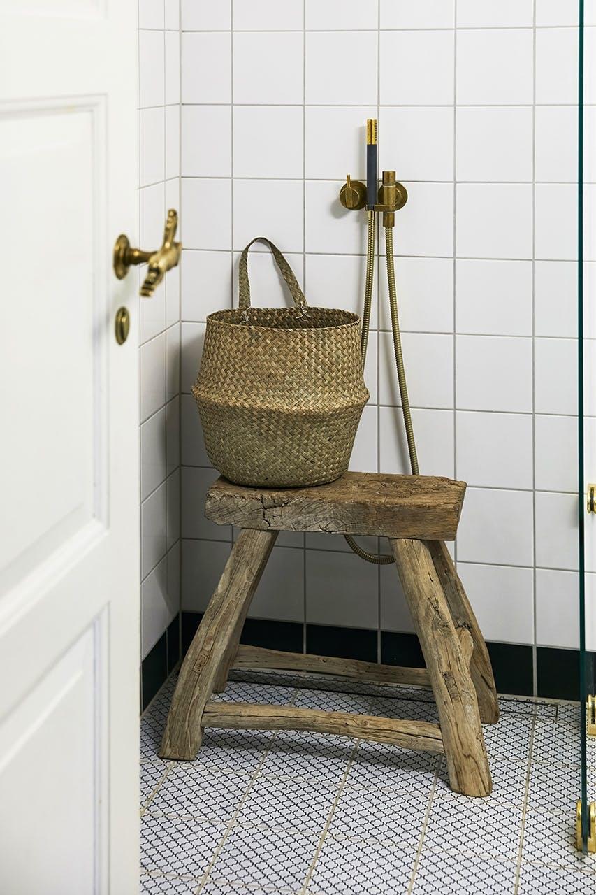 boligreportage boligindreting badeværelse kurv