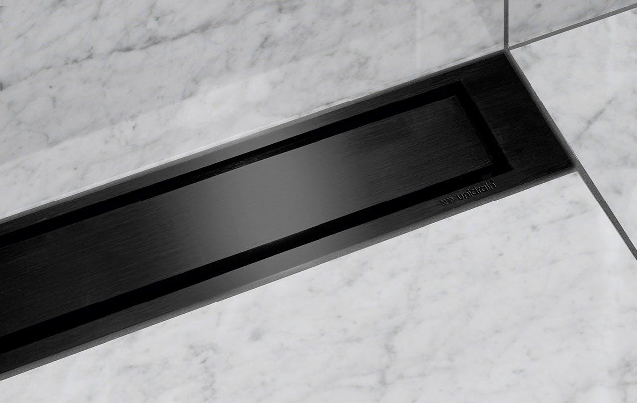 Unidrain bruseafløb i sort metal