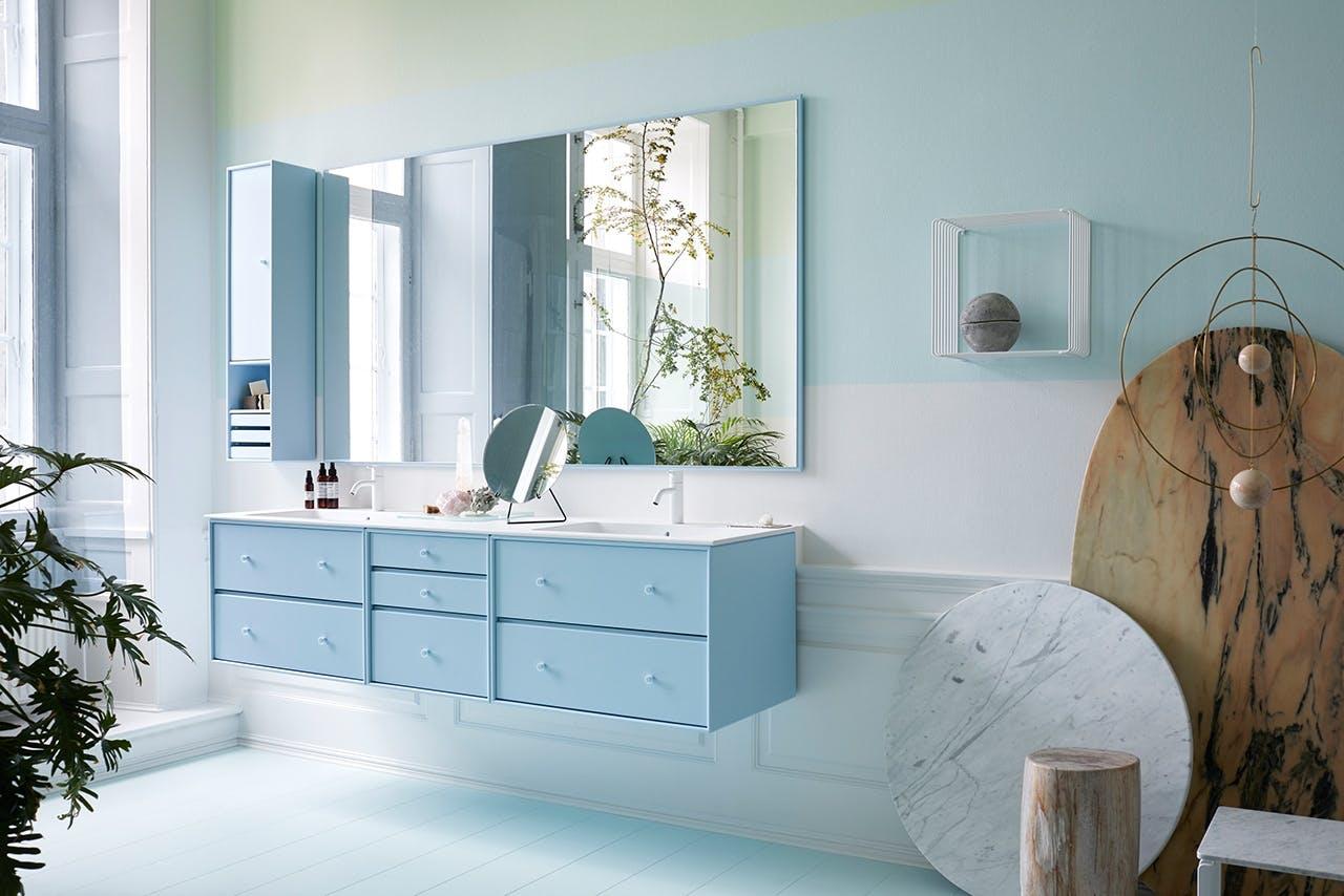 Montana badeværelsesmøbler i blå