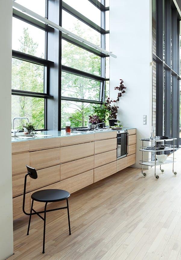 arkitekttegnet hus moderne køkken
