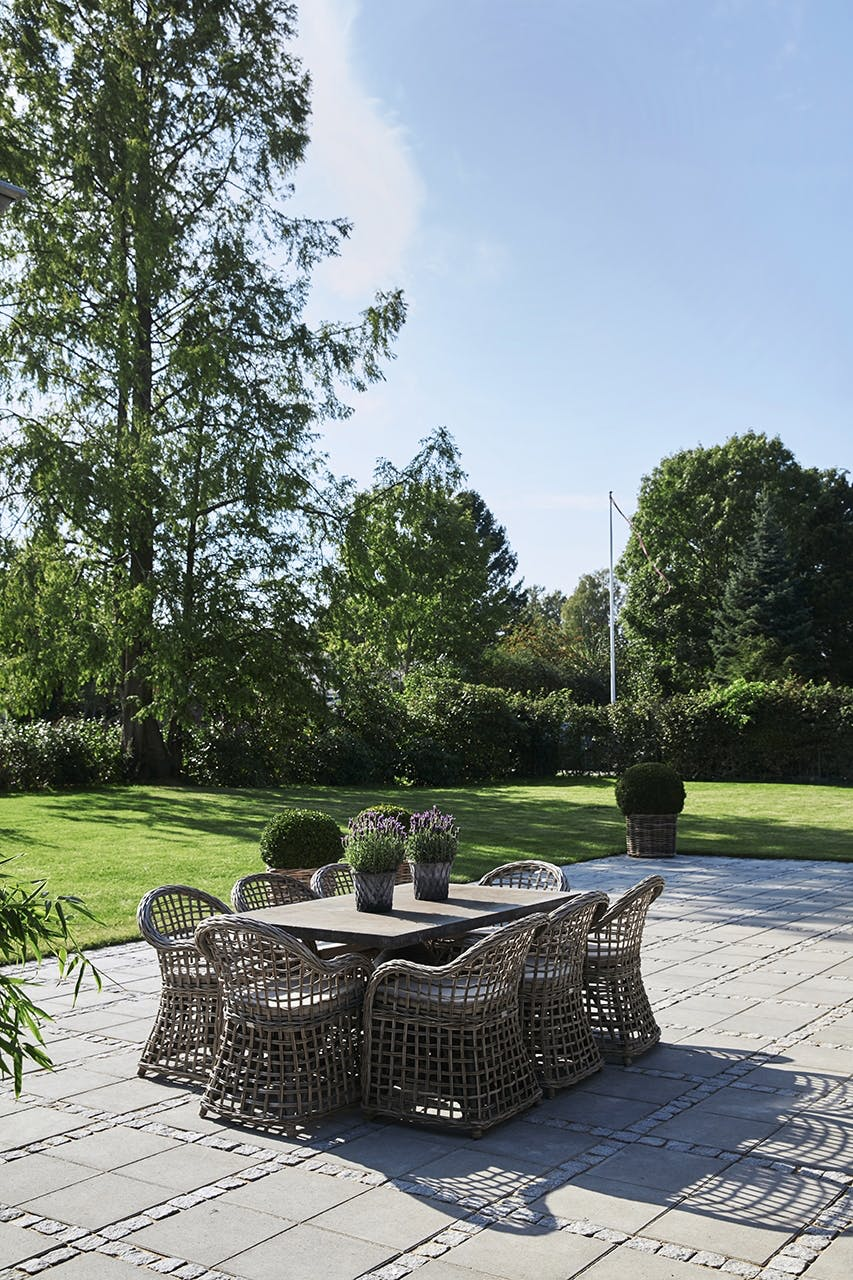 sommerhus privat udendørs terrasse