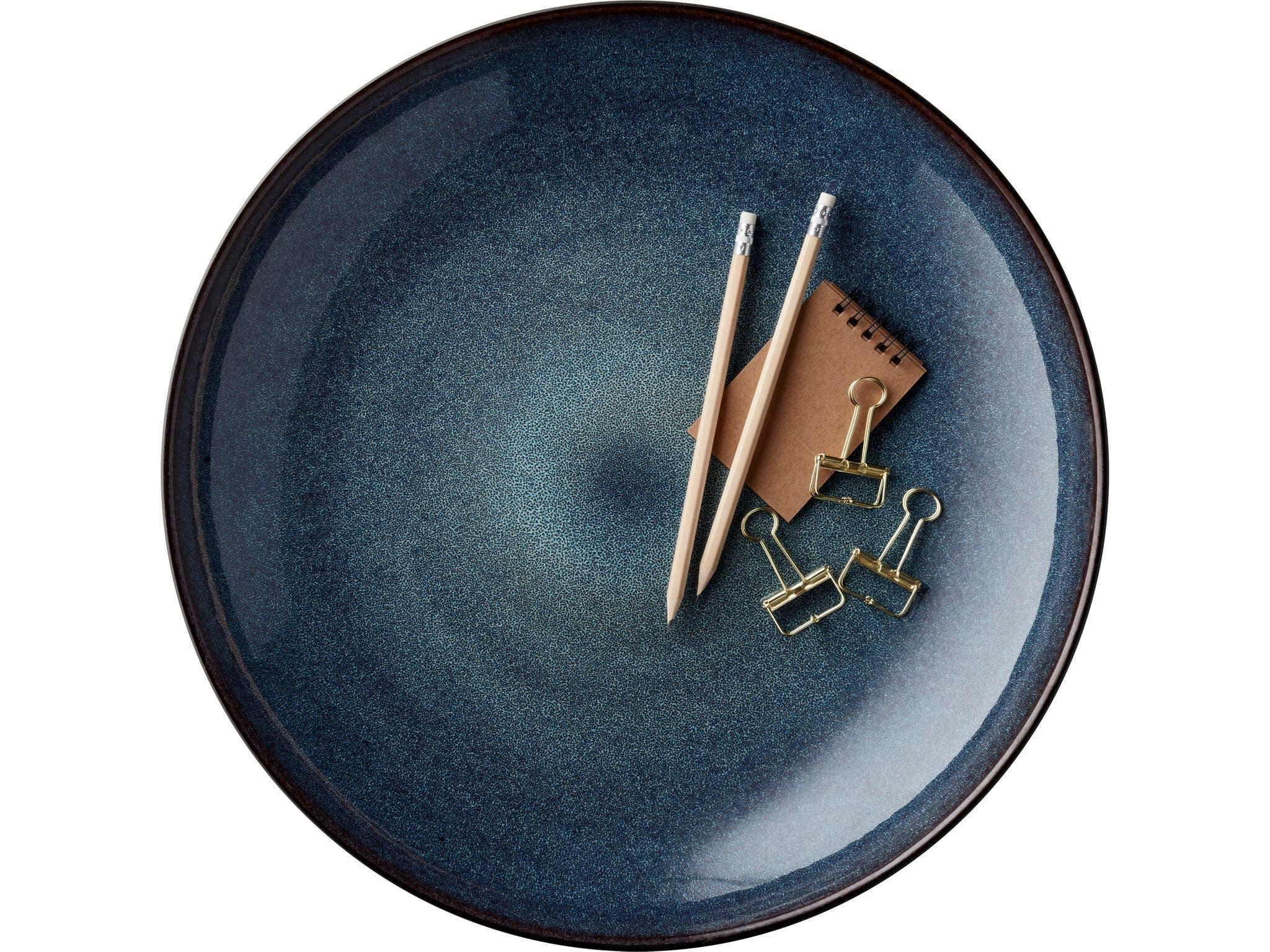 keramik christian bitz fad bordfad blå