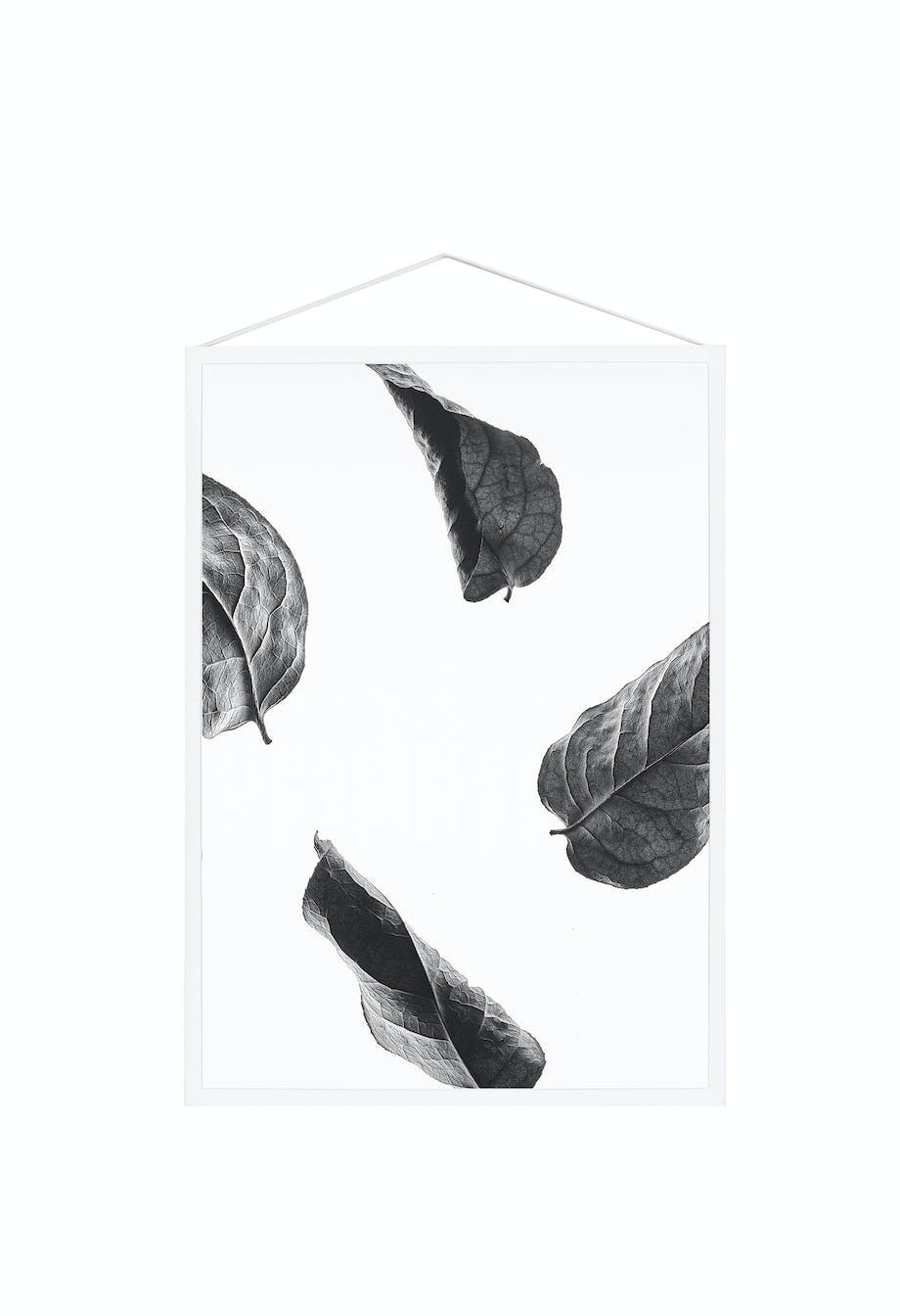Floating Leaves i sort/hvid