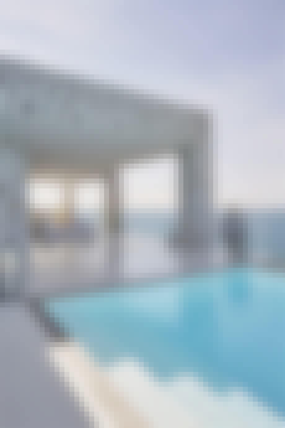 Terrasse og pool i Feriehus i Tyrkiet
