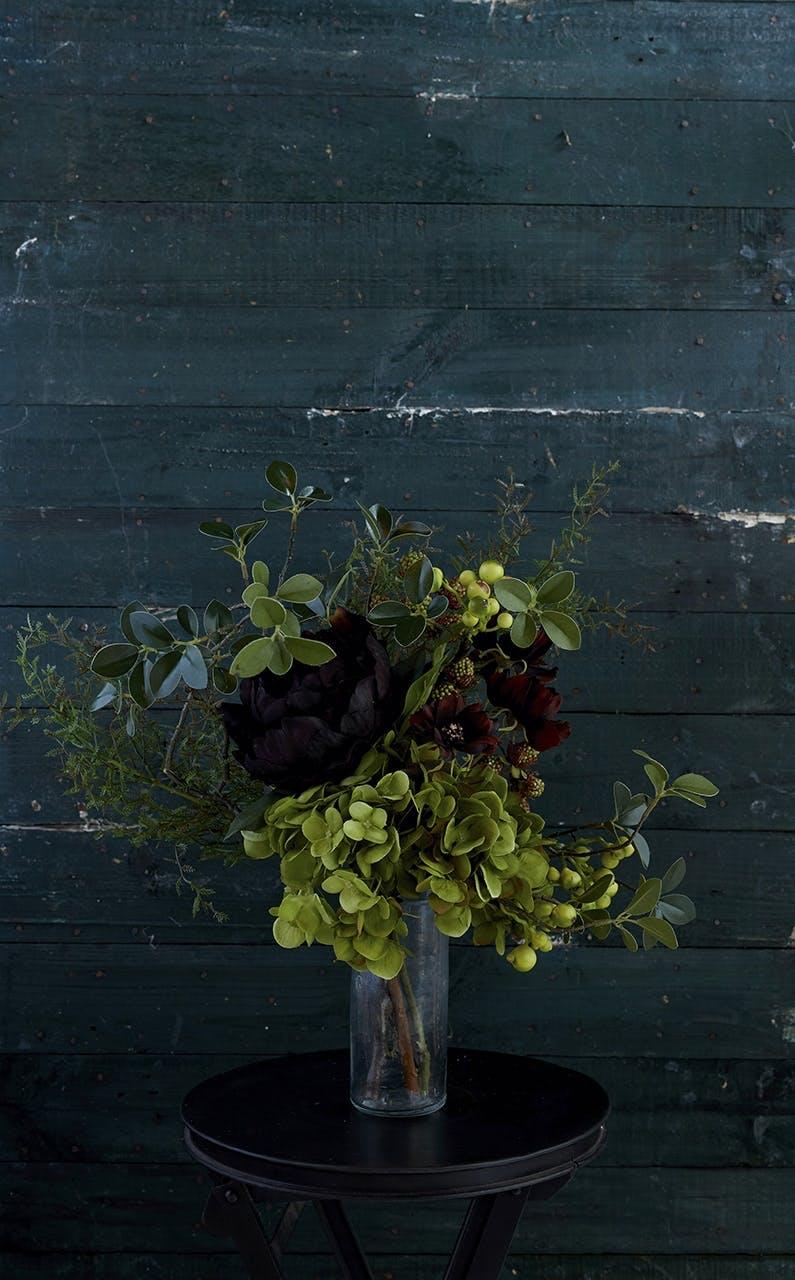 kunstige blomster buket grøn