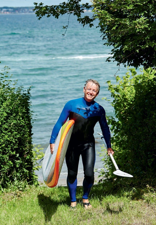 Jesper Møller Hansen direkte fra havet