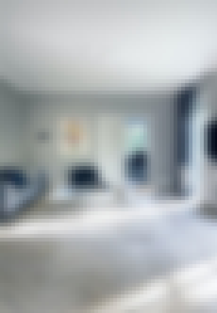 Designelementer i hele stuen