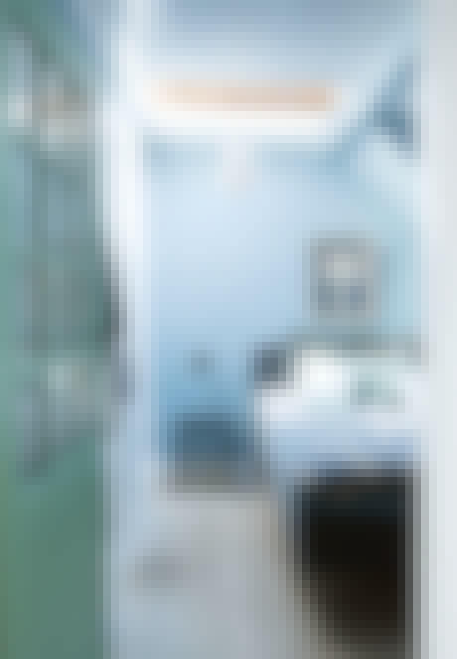 Et soveværelse i blå toner