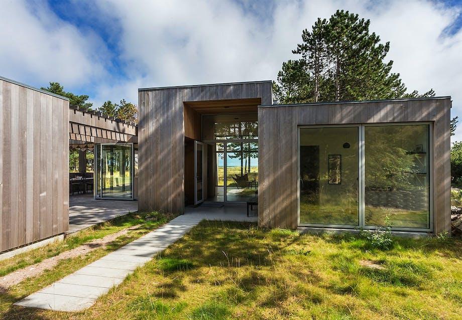 Transparent hus med udsigt