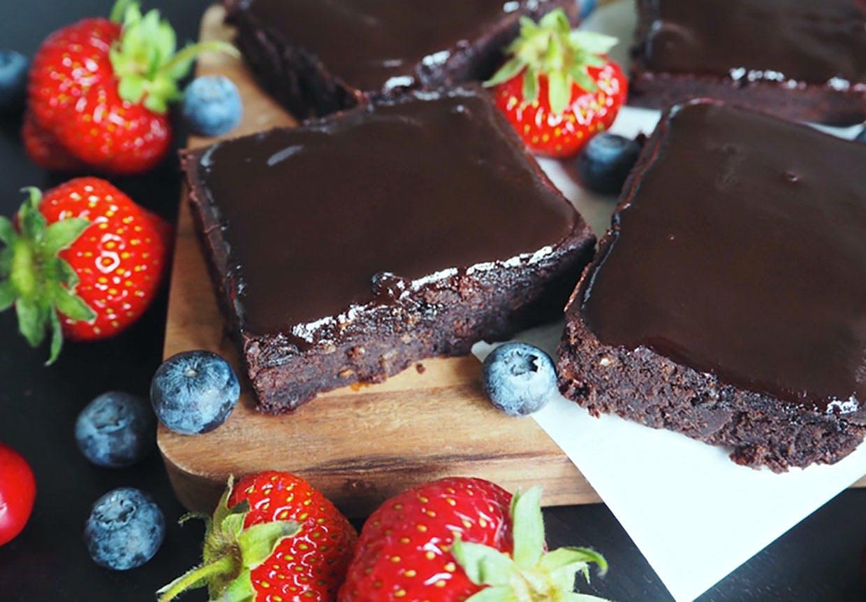 Brownie med sorte bønner