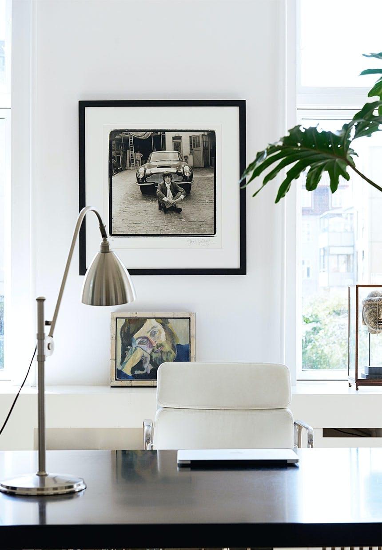 Hjemmekontor med stuk og moderne design