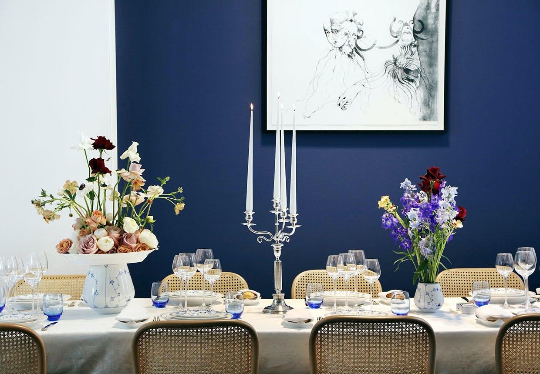 Bryllupsborde med kongeligt porcelæn
