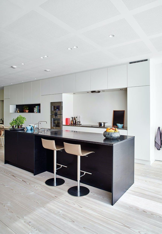 Køkken i sort og hvidt